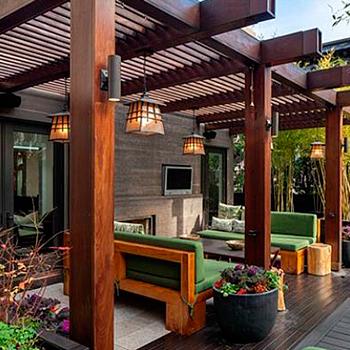 Cobertizos pewenkuk especialistas en terrazas y quinchos for Cobertizos de casas