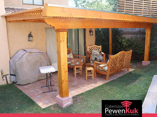 Cobertizos de madera terminaci n premium cobertizos pewenkuk - Terrazas de madera precios ...