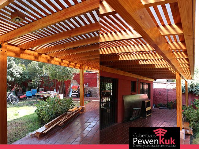 Cobertizos de madera para estacionamientos o jard n - Cobertizo de jardin ...