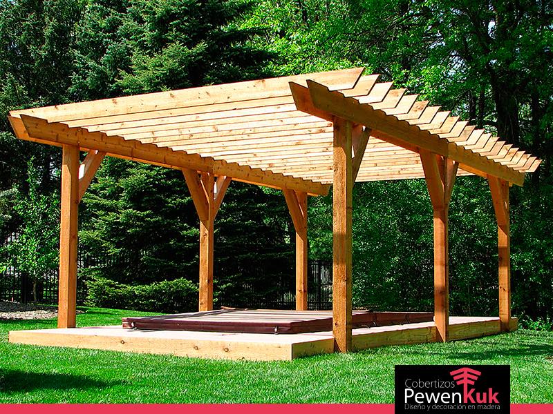 Como hacer una pergola pergolas y deck en madera o hierro - Como hacer una pergola de hierro ...
