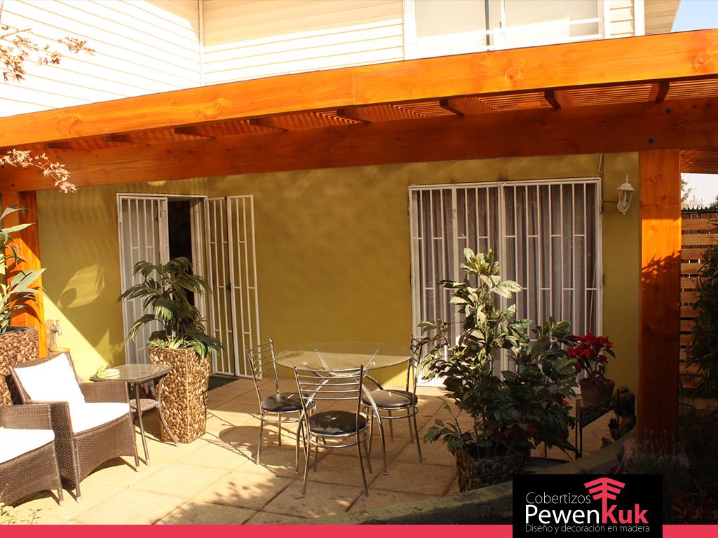 Terrazas terminaci n premium cobertizos pewenkuk for Cobertizos para terrazas