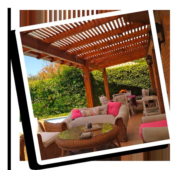 Cobertizos pewenkuk cobertizos terrazas y p rgolas for Cobertizos para terrazas