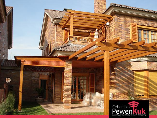 P rgolas y terrazas cobertizos pewenkuk for Cobertizos de madera baratos